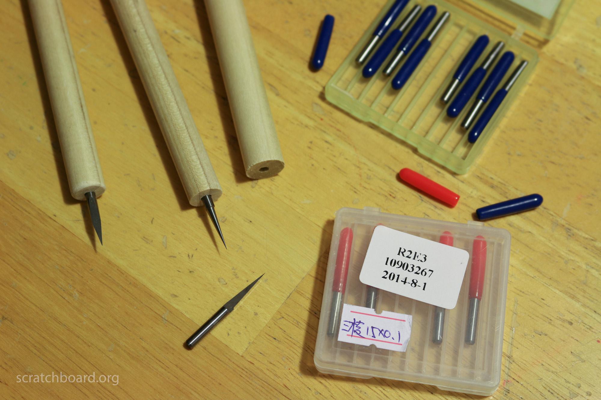 cnc-bits-as-scratchboard-tools